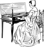 papapishu_Woman_playing_a_clavichord