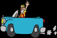 Gerald_G_Driving_a_car