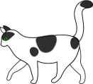 papapishu_white_cat_walking